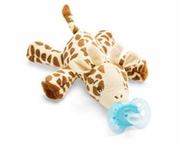 Philips Avent Snuggle Giraffe SCF348/11, Kuscheltier mit Schnuller ultra soft, ideales Geschenk für Neugeborene und Babys, Schnullertier - 1