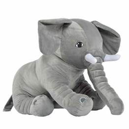 Pink Papaya Mega Riesen XXL Kuschel-Elefant Manni, 75cm Plüsch-Elefant sitzend, Stoff-Tier, XXL Plüsch-Kuscheltier Toys zum Liebhaben - 1