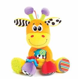 Playgro Activity Freund Giraffe, Lernspielzeug, Ab 0 Monaten, BPA-frei, Discovery Friend Giraffe, Orange/Bunt, 40155 - 1