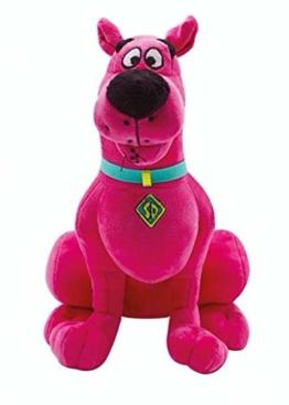 Plüsch Scooby DOO Hundesitzen Dog Sitting 37cm (Original,Blau,Bunt,Pink) Top Qualität Plush (Pink) - 1