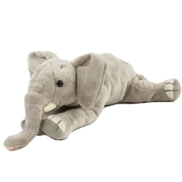 Plüschtier Elefant, liegend 29 cm bezauberndes Kuscheltier gefüllt mit Fasern und Granulat - 1