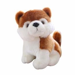 Plüschtier Simulation Simky Husita Akita Hundespielzeug Puppe Plüschtiere Gefüllte Puppen Kissen Spielzeug Home Office Desktop Dekor Weihnachtsgeburtstagsgeschenk Für Kinder 28cm Bernhardiner Hund - 1