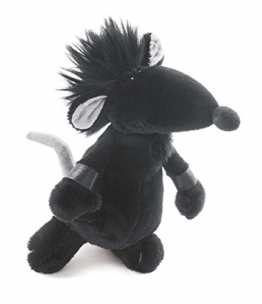 Rock-Star-Baby Stofftier Ratte in schwarz - Perfektes kuscheltier für jedes Kinder-Bett RSB - 1