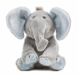 Schaffer Knuddel mich! 5180 BabySugar Blue Plüsch-Elefant, Blau, Größe XS 13 cm - 1