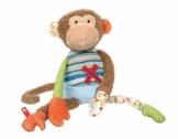 sigikid, 38218, Mädchen und Jungen, Stofftier Affe Sweety, Mehrfarben - 1