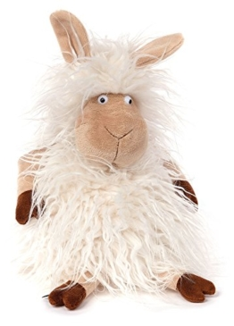 Sigikid 38727 Stofftier für Erwachsene und Kinder, Schaf, Hairy Queeny rewashed, BeastsTown, Weiß, 38727 - 1