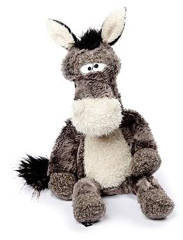 sigikid BEASTS 38482 - Kuscheltier für Erwachsene und Kinder, Eselhengst Doodle Donkey, Grau/Weiß - 1
