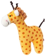 sigikid, Mädchen und Jungen, Greifling und Rassel Giraffe, Orange, 41170 - 1