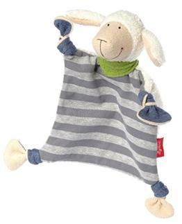 sigikid Mädchen und Jungen, Schnuffeltuch Schaf Schön, Baby-Kuscheltuch grau/bunt, 41955 - 1