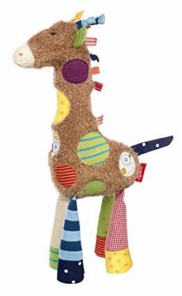 sigikid, Mädchen und Jungen, Stofftier Giraffe Sweety, Braun/Bunt, 38300 - 1