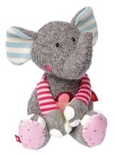 Sigikid Sigikid38709 Mädchen und Jungen, Stofftier Elefant, Patchwork Sweety, Grau, 38709 - 1