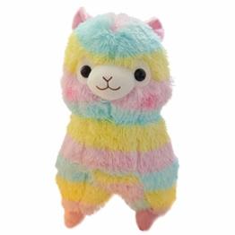 SOIMISS Alpaka Plüsch Spielzeug Regenbogen Cartoon Kinder Plüschtiere Puppe Geburstage Neujahr Kuscheltier Geschenk für Kinder Erwachsene - 1