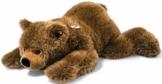 Steiff 070068 Urs Braunbaer 90 liegend Bär, BRAUN MELIERT - 1