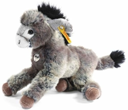 Steiff 280337 - Issy Esel 24 cm, grau/beige liegend - 1