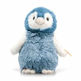 """Steiff 63923 Original Plüschtier Pinguin Soft Cuddly Friends Paule, Kuscheltier ca. 14 cm, Markenplüsch Knopf im Ohr"""", Schmusefreund für Babys von Geburt an, blau, weiß - 1"""