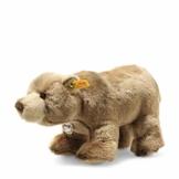 """Steiff 69420 Original Plüschtier Braunbär Back in Time Baerlie, Kuscheltier ca. 28 cm, Markenplüsch Knopf im Ohr"""", Schmusefreund für Babys von Geburt an, braun - 1"""
