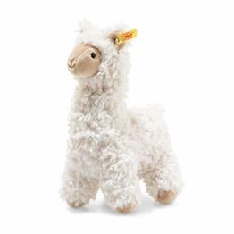 """Steiff 69444 Original Plüschtier Lama Soft Cuddly Friends Leandro, Kuscheltier ca. 14 cm, Markenplüsch Knopf im Ohr"""", Schmusefreund für Babys von Geburt an, Creme - 1"""