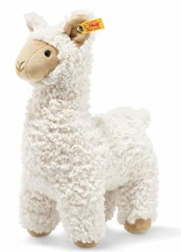 """Steiff 69543 Original Plüschtier Lama Soft Cuddly Friends Leandro, Kuscheltier ca. 23 cm, Markenplüsch Knopf im Ohr"""", Schmusefreund für Babys von Geburt an, Creme - 1"""
