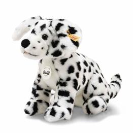 """Steiff 76916 Original Plüschtier Hund Lupi Dalmatiner, Kuscheltier ca. 26 cm, Markenplüsch Knopf im Ohr"""", Schmusefreund für Babys von Geburt an, weiß, schwarz - 1"""