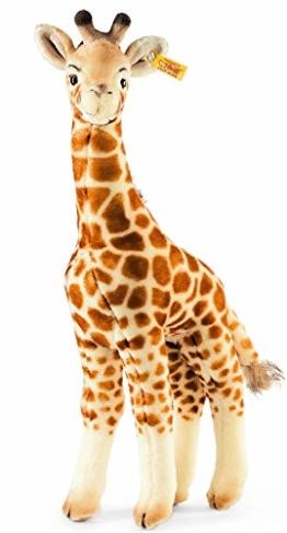 Steiff Bendy Giraffe - 45 cm - Kuscheltier für Kinder - Plüschgiraffe - weich & waschbar - beige, braun (068041) - 1
