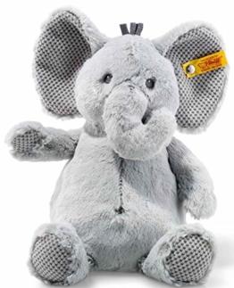 Steiff Ellie Elefant - 28 cm - Kuscheltier für Kinder - Plüschelefant - weich & waschbar - grau - (240539) - 1
