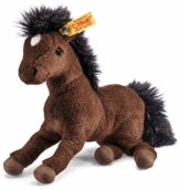 Steiff Hanno Hannoveraner - 22 cm - Plüsch Pferd liegend - Kuscheltier für Kinder - Plüschpferd - weich & waschbar - braun (280351) - 1