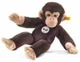 Steiff Koko Schimpanse - 35 cm - Kuscheltier für Kinder - Plüschaffe - weich & waschbar - dunkelbraun (064722) - 1