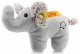 Steiff Mini Knister-Elefant mit Rassel - 11 cm - Plüschelefant mit knisternden Ohren & Rassel - Kuscheltier für Babys - grau (240690) - 1