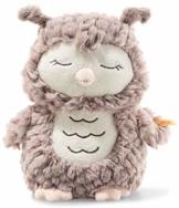 Steiff Ollie Eule - 23 cm - Kuscheltier für Babys - Soft Cuddly Friends - weich & waschbar - rosebraun (241833) - 1