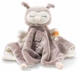 Steiff Ollie Eule Schmusetuch - 26 cm - Kuscheltier für Babys - Soft Cuddly Friends - weich & waschbar - rosebraun/creme (241857) - 1