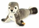 Steiff Robby Seehund - 30 cm - Kuscheltier für Kinder - kuschelig & waschbar - grau/weiß (063114) - 1