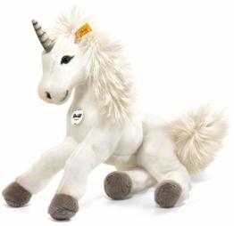 Steiff Starly Einhorn - 35 cm - Schlenkertier für Kinder - Plüscheinhorn - weich & waschbar - Unicorn weiß (015045) - 1