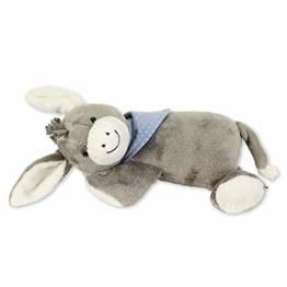 Sterntaler Schlaf-gut-Figur Esel Emmi (DE 3102000) mit integriertem Herztonmodul, Für Babys ab der Geburt, Grau/Hellblau - 1