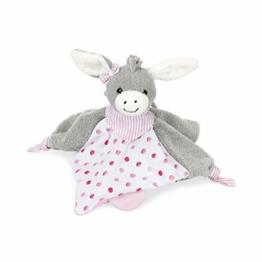 Sterntaler Schmusetuch Emmi Girl, Alter: Für Babys ab dem 1. Monat, Größe: 26 cm, Farbe: Grau/Pink - 1