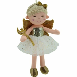 Sweety Toys 11742 Stoffpuppe Fee Plüschtier Prinzessin 30 cm Gold - 1