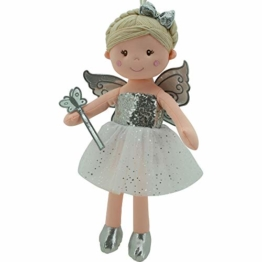 Sweety Toys 11797 Stoffpuppe Fee Plüschtier Prinzessin 45 cm Silber - 1