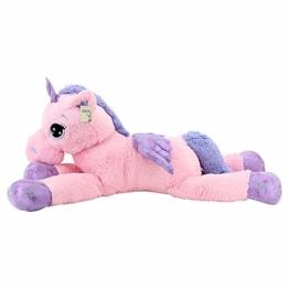 Sweety Toys 8049 XXL Einhorn Pegasus Plüschtier Kuscheltier 130 cm rosa - 1