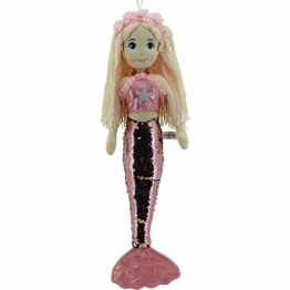 Sweety Toys all Toys 11889 Stoffpuppe Meerjungfrau Plüschtier Prinzessin 70 cm rosa - 1