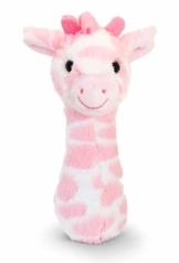 tachi Plüschtier für Babys 15 cm, Kuscheltier Giraffe Rosa, Kindersicheres Stofftier mit Rassel - 1