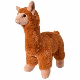 TE-Trend Plüschtier Alpaka Lama Kuscheltier Plüsch Alpaca Stofftier Kinder Spielzeug Geschenk 30cm Braun - 1