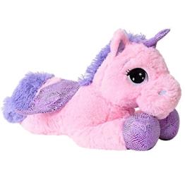 TE-Trend XL Einhorn Kuscheltier Kuschelpferd Plüschtier Stofftier Unicorn 45cm lila Glitzerhorn Rosa Pink - 1