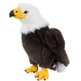 Teddys Rothenburg Kuscheltier Adler Wölkchen 24 cm stehend braun/weiß/gelb Plüschadler Plüschtier - 1