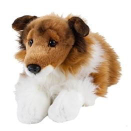 Teddys Rothenburg Kuscheltier Collie schwarz/weiß/braun liegend 45 cm (mit Schwanz) Plüschhund Plüschcollie - 1