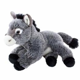 Teddys Rothenburg Kuscheltier Esel 33 cm grau liegend - 1