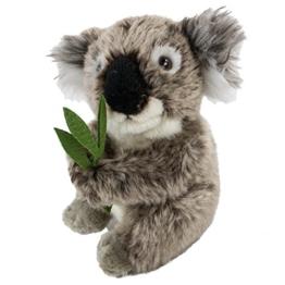 Teddys Rothenburg Kuscheltier Koalabär 16 cm mit Bambus grau/grün sitzend Plüschkoalabär - 1