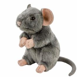 Teddys Rothenburg Kuscheltier Maus/Ratte aufrecht stehend grau 17 cm - 1