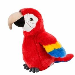 Teddys Rothenburg Kuscheltier Papagei Ara klein rot blau 19 cm Plüsch Stofftier Plüschtier Baby Kinder Spielzeug - 1