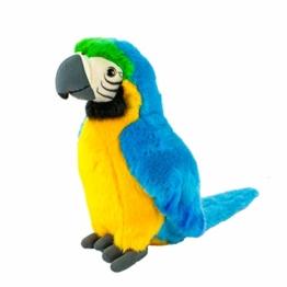 Teddys Rothenburg Kuscheltier Papagei Stehend Blau/Gelb/Grün 28 Cm Plüschpapagei Plüschvogel - 1