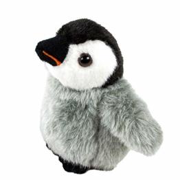 Teddys Rothenburg Kuscheltier Pinguin Baby stehend 12 cm grau/schwarz/weiß Plüschpinguin - 1