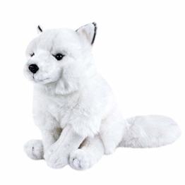 Teddys Rothenburg Kuscheltier Polarfuchs weiß sitzend 26 cm - 1